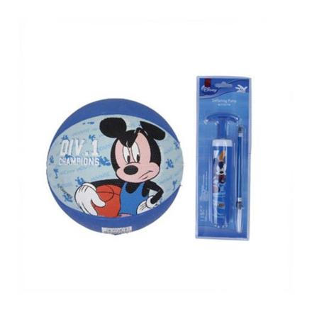 Disney迪士尼3#儿童橡胶篮球打气筒套装