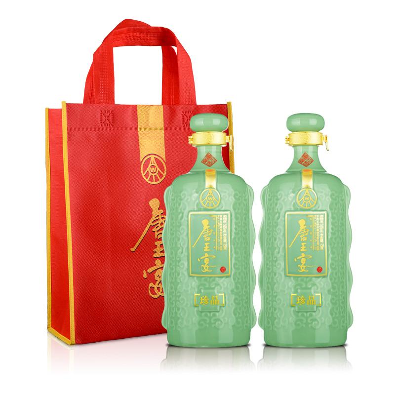 52°五粮液(股份)唐王宴珍品750ml(双瓶装)+唐王宴手提袋