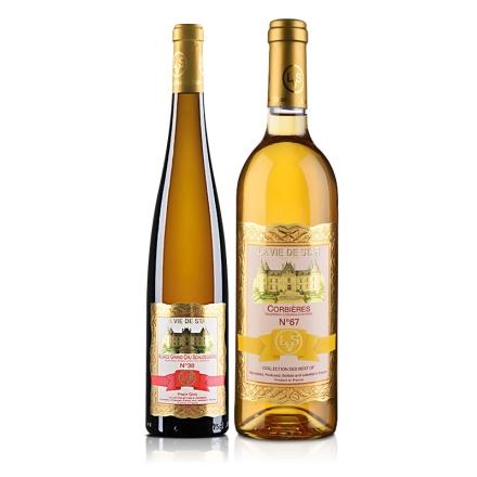 法国拉维之星38号-灰比诺白葡萄酒750ml+法国拉维之星67号科比埃白葡萄酒750ml(乐享)
