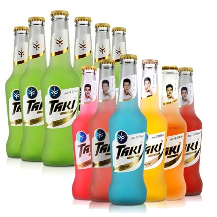 达奇TAKI鸡尾酒(预调酒)炫彩夜场装(6瓶装)+青柠味(6瓶装)