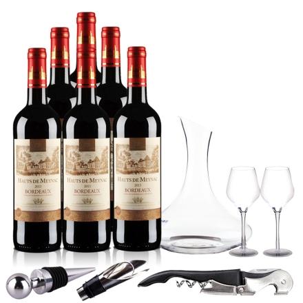 法国波尔多AOC美雅客干红葡萄酒豪华大礼包