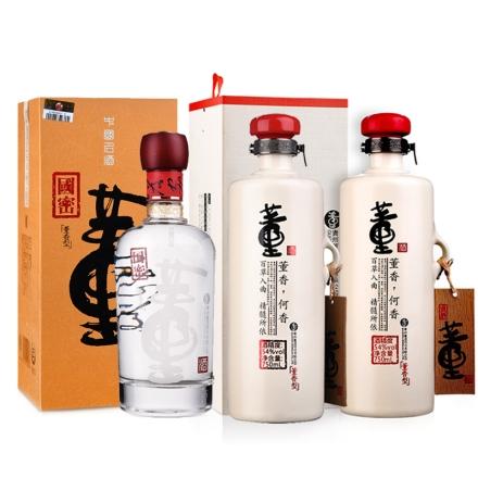 54°董酒何香750ml(双瓶装)+54°国密董酒500ml(乐享)