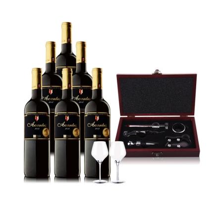 西班牙圣霞多·爱肯特斯干红葡萄酒 750ml*6瓶贴心品饮装
