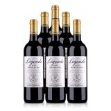 法国拉菲传奇 2014 波尔多法定产区红葡萄酒750ml(6支装)