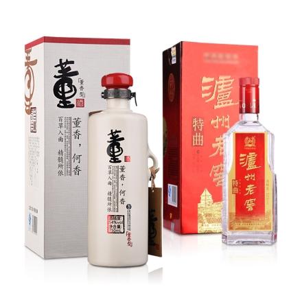 54°董酒何香750ml+52°泸州老窖特曲500ml