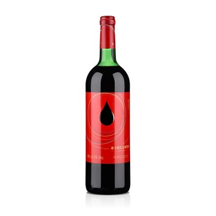 中国红酒通天红色时代甜红山葡萄酒1000ml