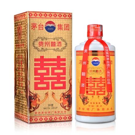 【礼盒特卖】38°茅台集团贵州囍酒500ml(2003-2004年)