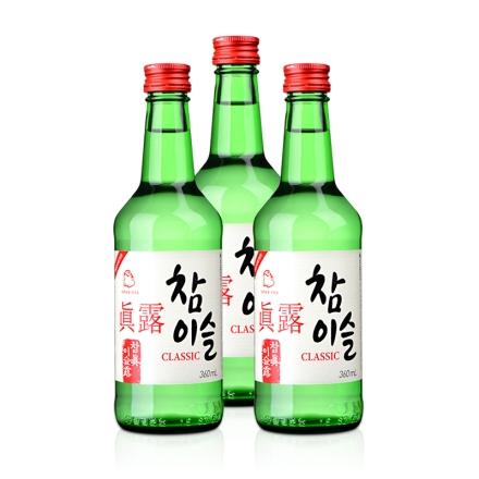 20.1°真露竹炭酒360ml(3瓶装)