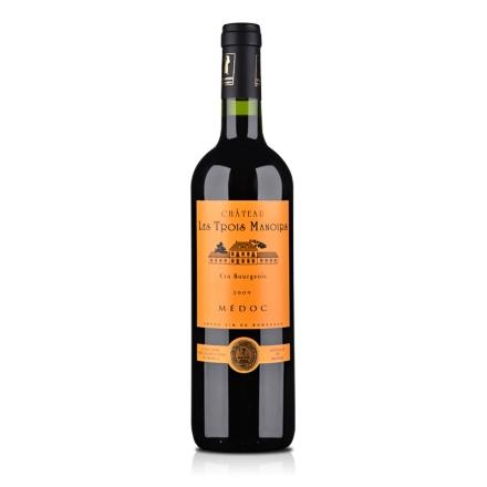 【清仓】法国进口中级庄三宝利酒庄干红葡萄酒2009 750ml
