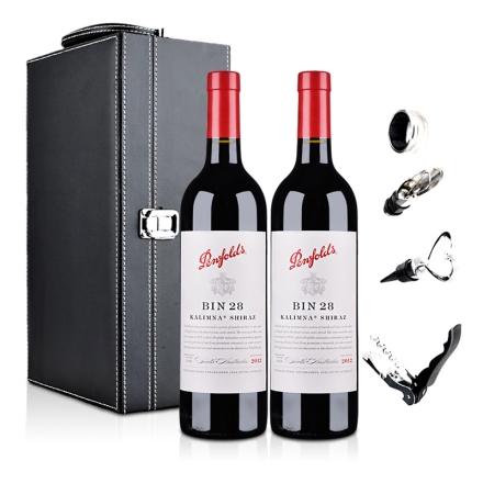 澳大利亚奔富酒园Bin28卡琳娜西拉干红葡萄酒双支礼盒
