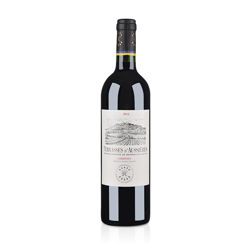 【清仓】法国红酒奥希耶特爱科比埃法定产区红葡萄酒750ml