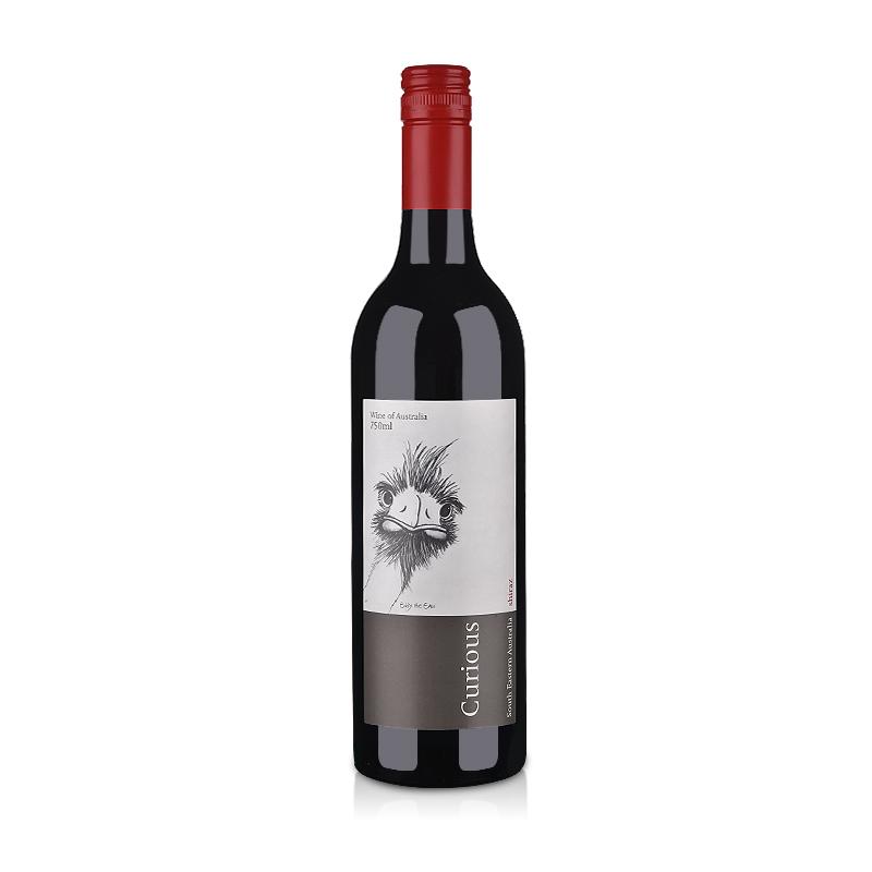 【清仓】澳大利亚红酒可吨儿(curious)西拉红葡萄酒750ml