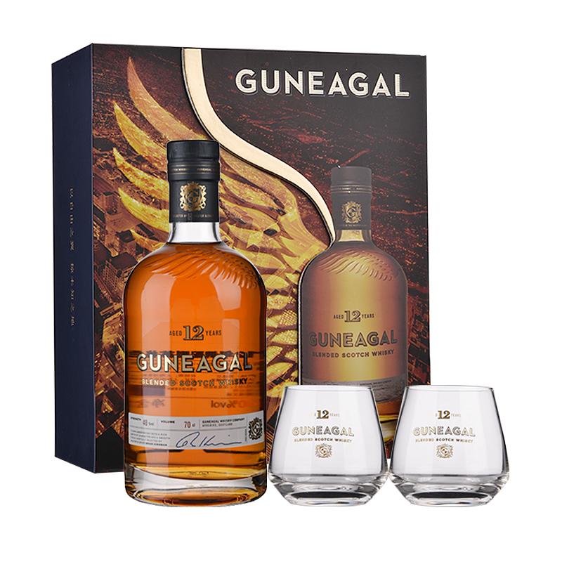 【礼盒】40°英国鹰勇12年调配型苏格兰威士忌700ml(礼盒装)