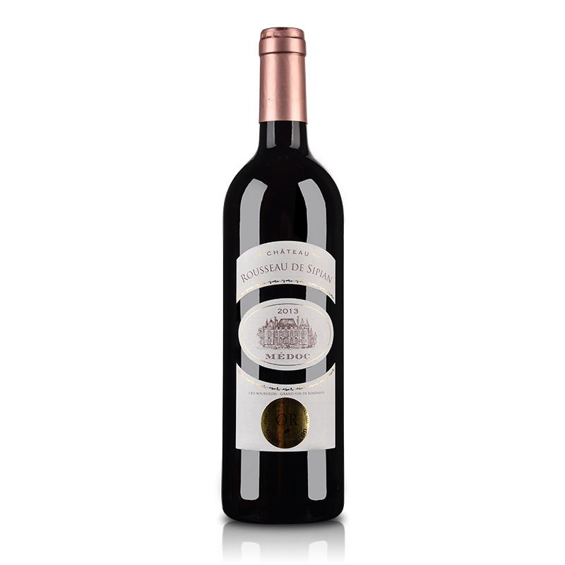 (酒仙直采·中级庄)法国红酒鲁索喜萍城堡干红葡萄酒750ml