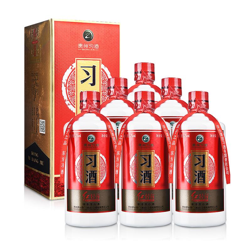53°红习酱500ml(6瓶装)
