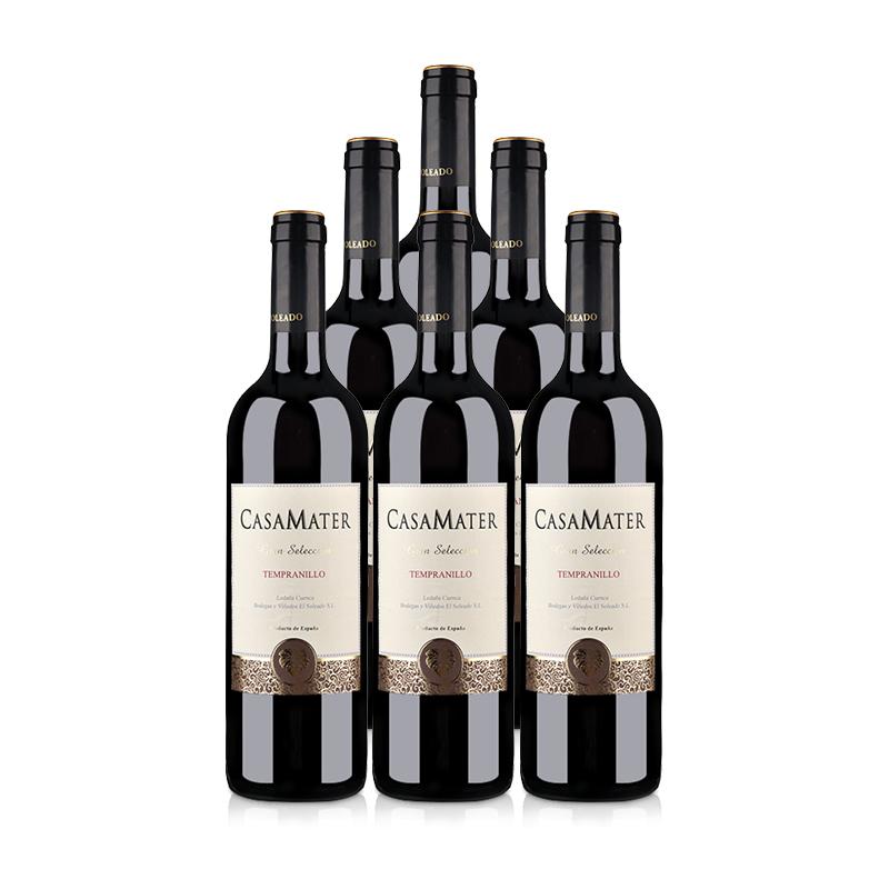 西班牙整箱红酒西班牙(原瓶进口)梅特世家干红葡萄酒750ml(6瓶装)