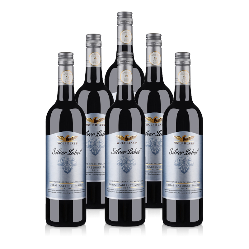 澳大利亚红酒整箱纷赋银标西拉赤霞珠马尔贝克干红葡萄酒750ml(6瓶装)