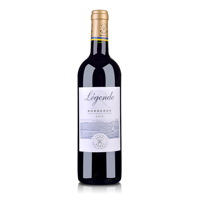 法国拉菲传奇波尔多2015红葡萄酒750ml
