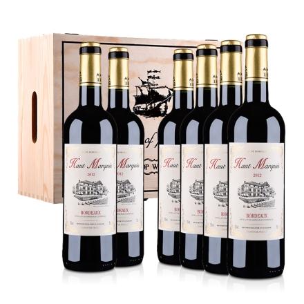法国波尔多AOC奥玛奇酒庄2012干红葡萄酒750ml(6瓶装)木箱装