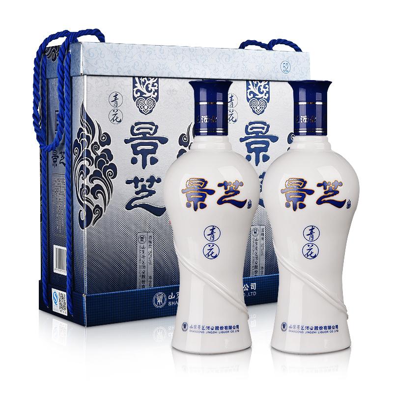 【酒仙自营】52°景芝青花500ml(双瓶装)