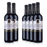 【周末特惠】法国整箱红酒法国(原瓶进口)法圣古堡圣威骑士干红葡萄酒750ml(6瓶装)