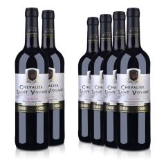 【茉莉花特卖】法国整箱红酒法国(原瓶进口)法圣古堡圣威骑士干红葡萄酒750ml(6瓶装)