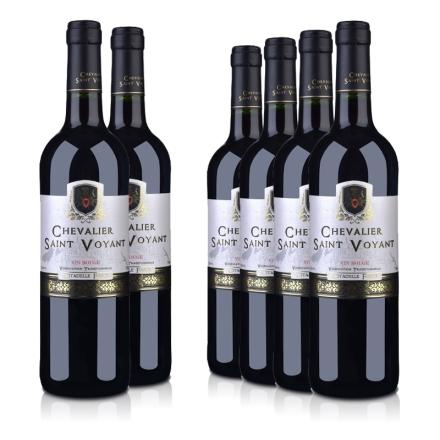 法国整箱红酒法国(原瓶进口)法圣古堡圣威骑士干红葡萄酒750ml(6瓶装)