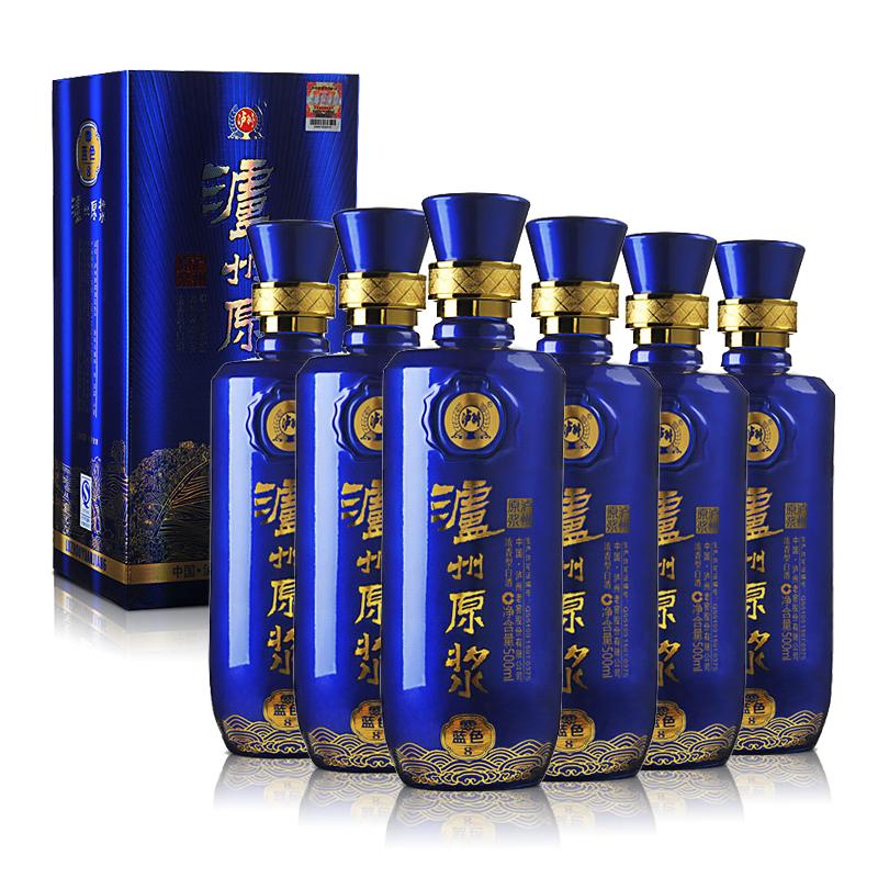 52°泸州老窖泸州原浆蓝色8 500ml(2014年)(6瓶装)