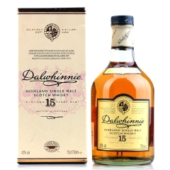 43°达尔维尼15年单一麦芽苏格兰威士忌700ml