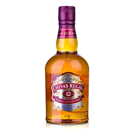 【保乐力加】40°英国芝华士12年苏格兰威士忌500ml