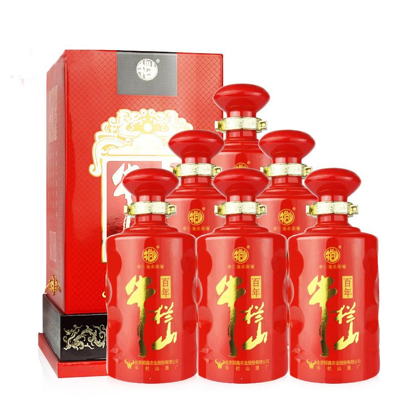 39°牛栏山百年红12年500ml(6瓶装)