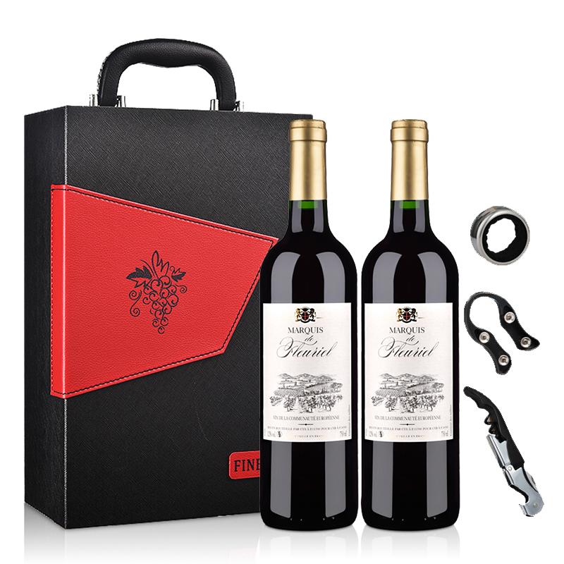 【礼盒】法国富乐男爵干红葡萄酒750ml(双支礼盒装)