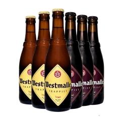比利时进口西麦尔双料三料啤酒修道院精酿组合330ml*6