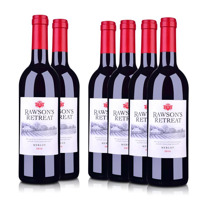 澳洲整箱红酒澳大利亚奔富洛神山庄梅洛红葡萄酒750ml (6瓶装)