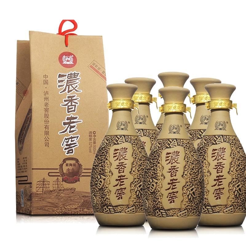 52°泸州老窖浓香紫陶500ml(6瓶装)