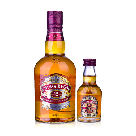 40°英国芝华士威士忌500ml+50ml品酒礼包