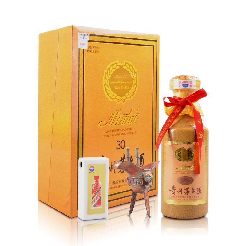 53°茅台三十年30年陈酿年份酒礼盒500ml