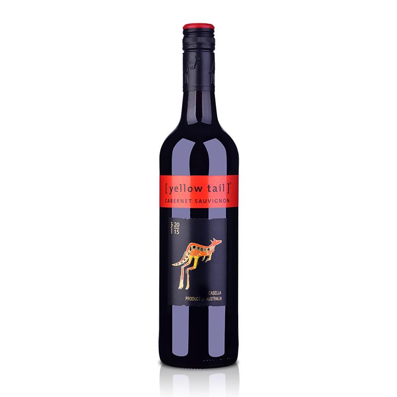 【包邮】澳洲红酒澳大利亚黄尾袋鼠加本力苏维翁红葡萄酒750ml(又名:澳大利亚黄尾袋鼠赤霞珠红葡萄酒750ml)