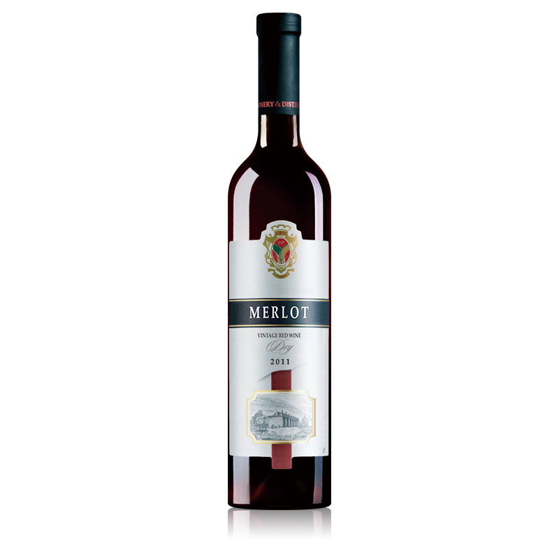 摩尔多瓦黄金鲟窖藏一年梅洛干红葡萄酒750ml