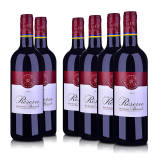 【品质红酒节】法国整箱红酒法国拉菲珍藏波尔多红葡萄酒750ml*6