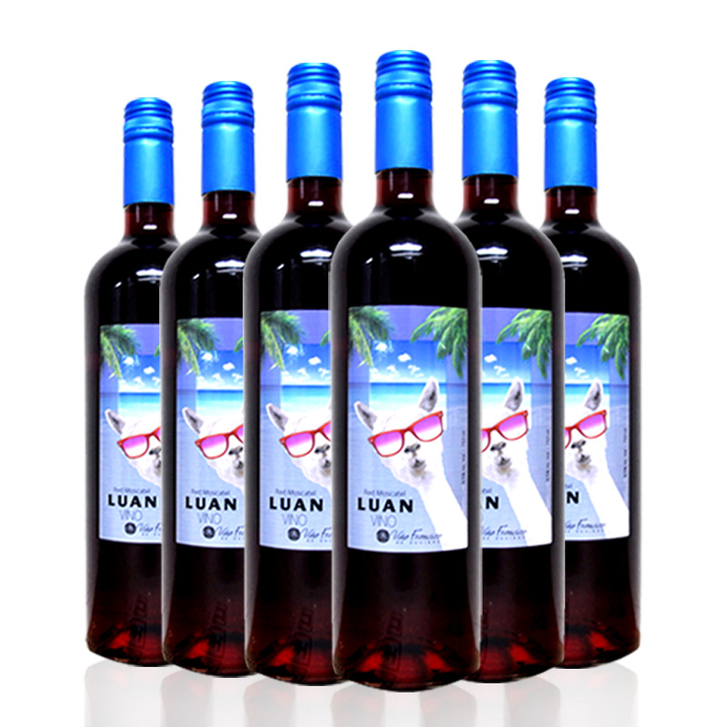 智利红酒(原瓶进口)甜型酒龙兰139红葡萄酒 750ml*6瓶