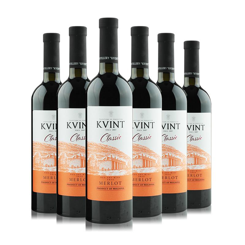 摩尔多瓦凯文特黄金鲟古堡梅洛干红葡萄酒750ml(6瓶装)
