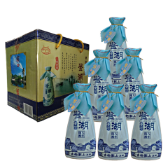 12°绍兴黄酒古越龙山鉴湖牌青瓷花雕酒八年陈 375ML  (6瓶装)