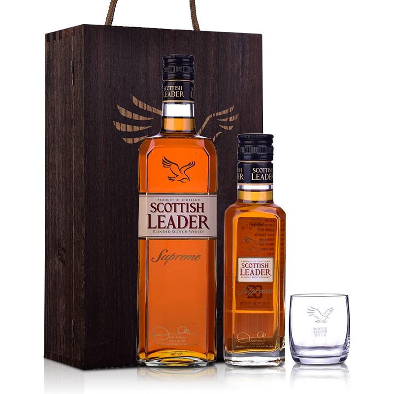 40°英国苏格里德金牌苏格兰调合威士忌礼盒700ml