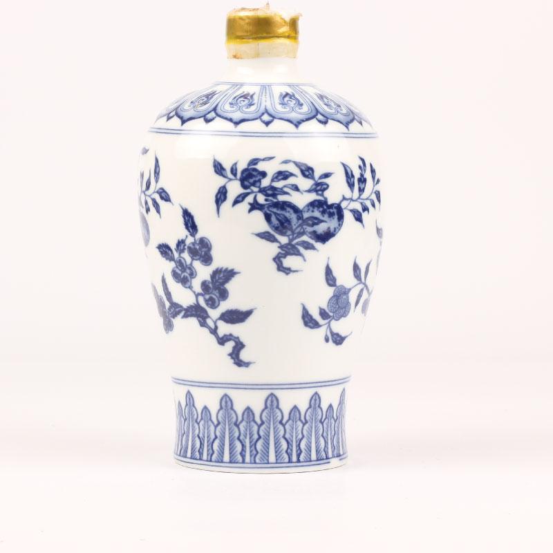 1987年台湾彷故宫~铜胎珐琅彩云龙纹蒜头瓶~纪念酒