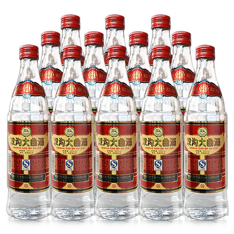 53°双沟大曲红500ml(12瓶装)