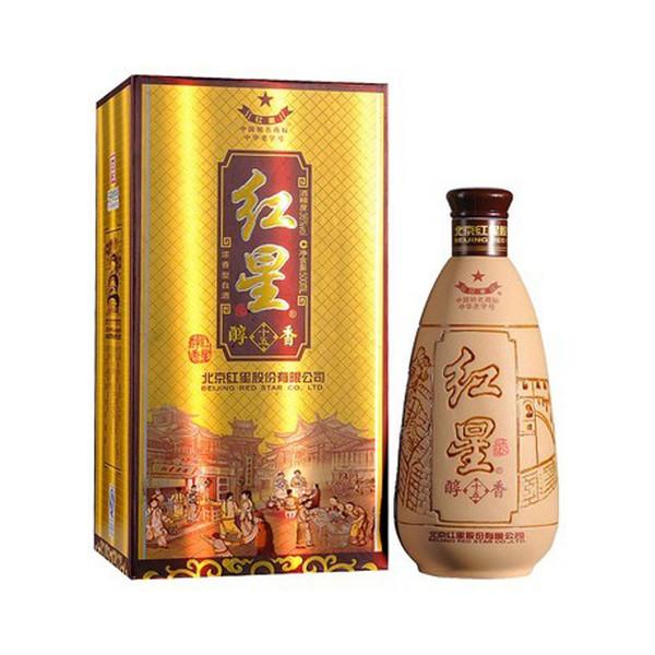36°红星醇香清香型白酒500ml(2013年产)