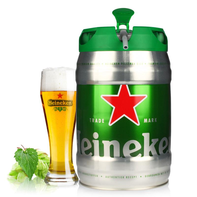 进口啤酒Heineken赫尼根喜力铁金刚啤酒5L桶装
