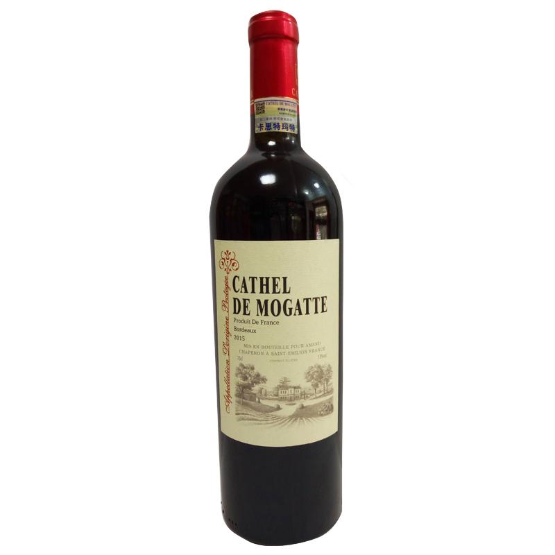 法国原瓶进口卡思特玛特干红葡萄酒750ml