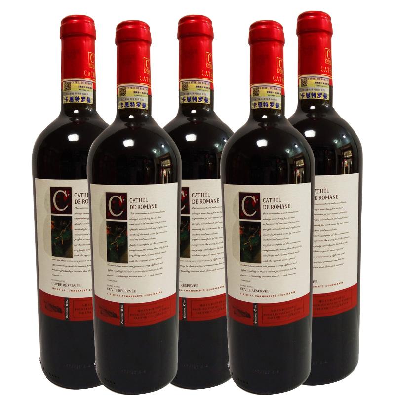法国原瓶进口卡思特罗曼干红葡萄酒(750ml*6瓶装)